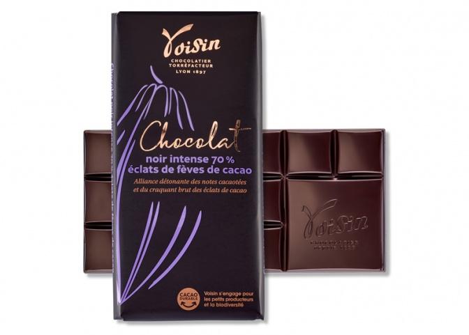 Noir intense Éclats de fèves de cacao