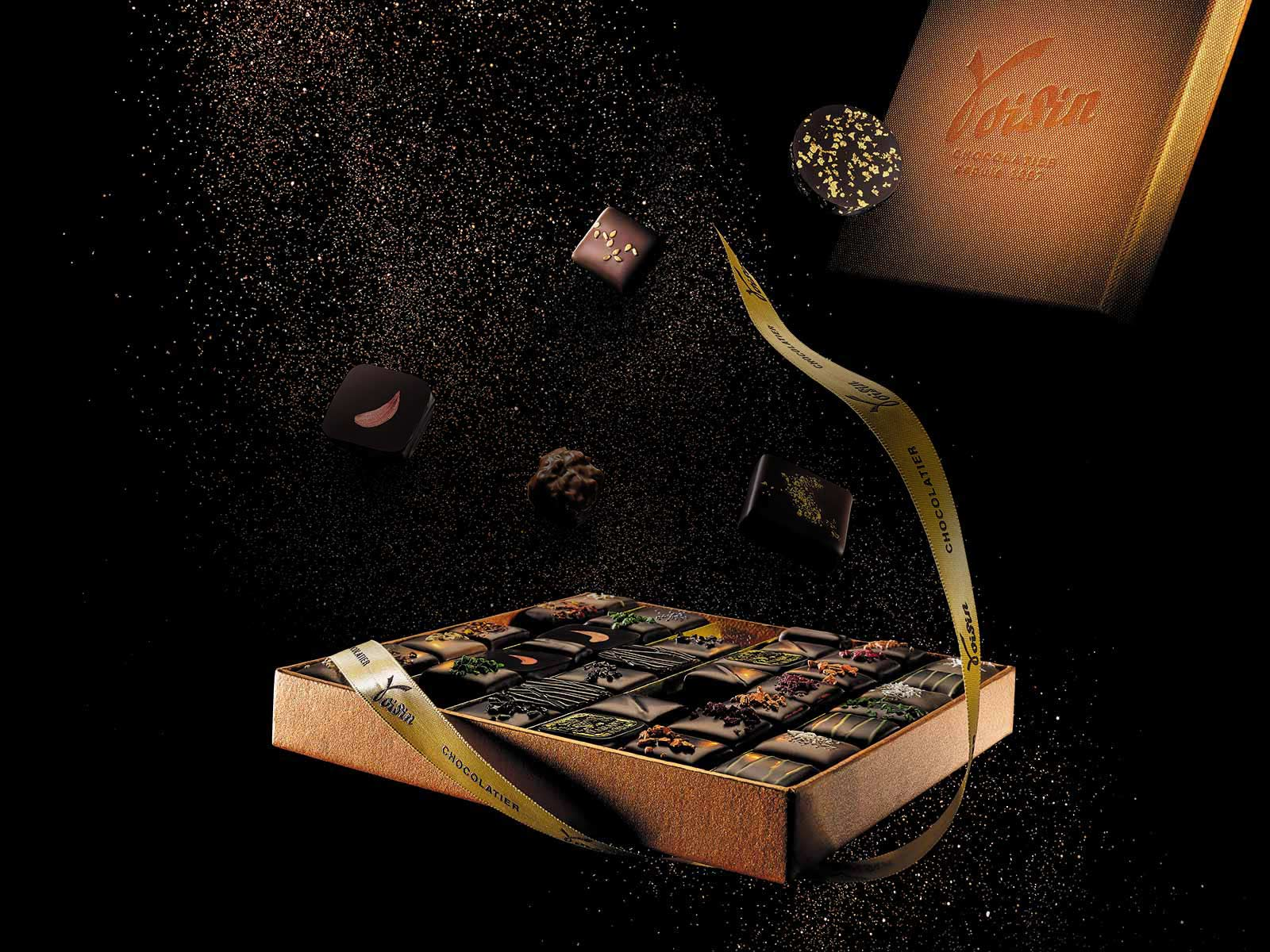 Chocolats Voisin en vitrine